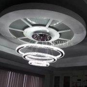 デザイン照明 クリスタルフープシャンデリア