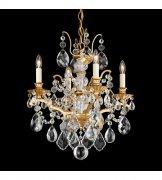 【SCHONBEK】クリスタルシャンデリ『Bordeaux』4灯(約W440×H520mm)