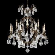 【SCHONBEK】クリスタルシャンデリ『Versailles Rock Crystal』12灯(約W840×H970mm)