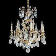 【SCHONBEK】クリスタルシャンデリ『Versailles Rock Crystal』8灯(約W670×H810mm)