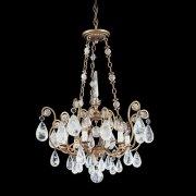 【SCHONBEK】クリスタルシャンデリ『Versailles Rock Crystal』6灯(約W560×H750mm)