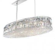 【SCHONBEK】クリスタルシャンデリア『Plaza』24灯(約W1220×H180×D570mm)