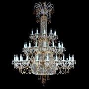 <B>【ART GLASS】</B>クリスタルシャンデリア 48灯(W1600×H2200 mm)
