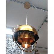 【1台在庫有!】デザイン照明 ペンダントライト ゴールド 1灯(W380×H400mm)