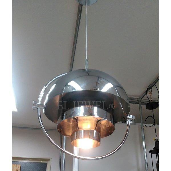 デザイン照明 ペンダントライト クローム 1灯(W380×H400mm)
