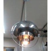<b>【在庫有!】</b>デザイン照明 ペンダントライト クローム 1灯(W380×H400mm)