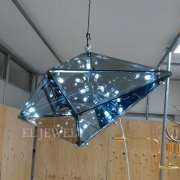 <b></b>デザイン照明 ペンダントライト メタルブラック(W630×H370mm)