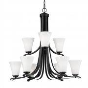 <B>【FEISS】</B>アメリカ製デザインシャンデリア「Summerdale」9灯(約D830×H730mm)