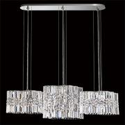 </B>【SCHONBEK】アメリカ製デザインクリスタルシャンデリ6灯(W990×D220×H280mm)