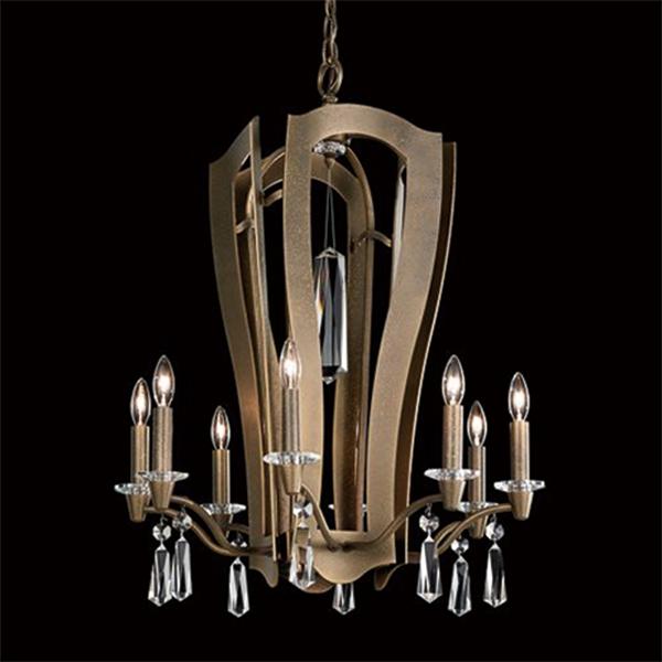【SCHONBEK】アメリカ製デザインクリスタルシャンデリ10灯(W550×H690mm)
