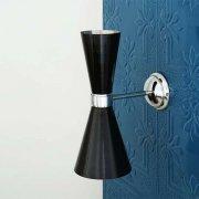 <b>【Mullan】</b>インダストリアル・スタイル ブラケット2灯(W140×H330×D230mm)