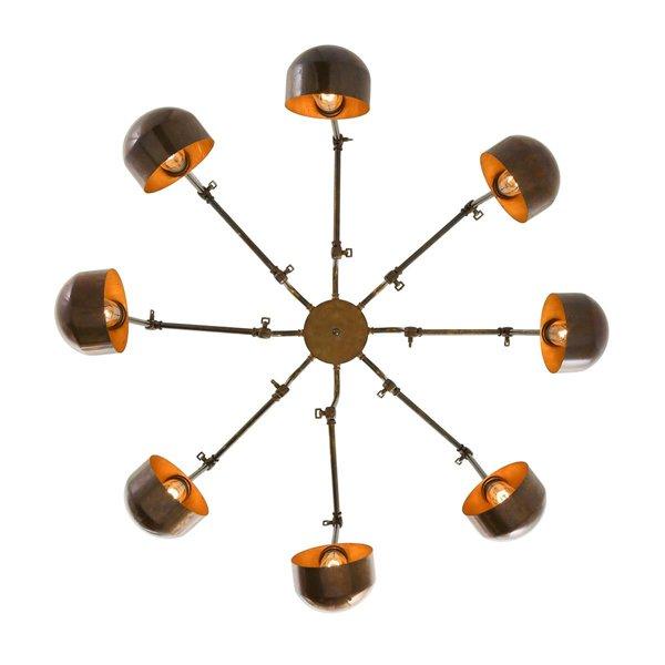 【Mullan】「SAN JOSE」インダストリアル・スタイル シャンデリア8灯(W350-1430×H220-900mm)