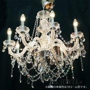【LA LUCE】クリスタルシャンデリア【豪華版】8灯・ゴールド(W670×H640mm)