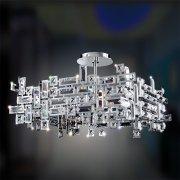 <b>【ALLEGRI】</b>スワロフスキークリスタルシャンデリア 8灯(W530×H330-810×530mm)