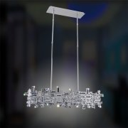 <b>【ALLEGRI】</b>クリスタルシャンデリア 6灯(W890×H330×D280mm)