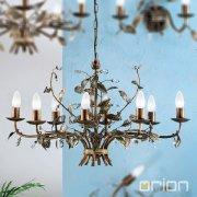 <b>【ORION】</b>アイアンシャンデリア8灯 (W800×D500×H450mm)