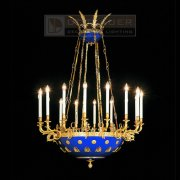 <b>【Dotzauer】</b>ハンギングシャンデリア16灯(φ1000×H1500mm)