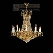 <b>【Dotzauer】</b>クリスタルシャンデリア17灯ゴールド(φ800×H800mm)