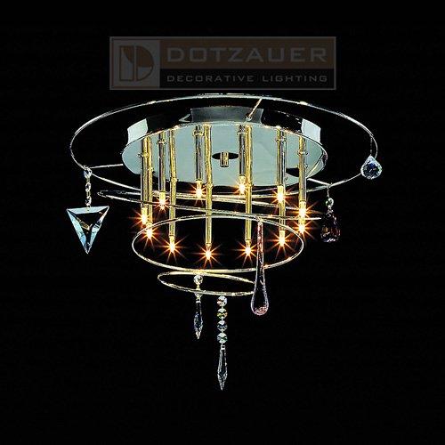 【Dotzauer】シーリングペンダント12灯クローム(φ450×H350mm)