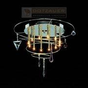 <b>【Dotzauer】</b>シーリングペンダント12灯クローム(φ450×H350mm)