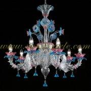 <b>【VENICE ARTE】</b>ヴェネチアンガラスシャンデリア6灯(φ800×H900mm)