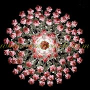 <b>【VENICE ARTE】</b>ヴェネチアンガラスシャンデリア7灯(φ400×H1000mm)