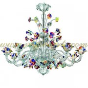 <b>【VENICE ARTE】</b>ヴェネチアンガラスシャンデリア12灯(φ1150×H900mm)