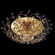 <b>【Prearo】</b>スワロフスキークリスタル・シーリングシャンデリア5灯(φ750×H240mm)