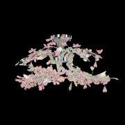 【Prearo】スワロフスキークリスタル・シーリングシャンデリア6灯(φ750×H400mm)