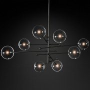 <b>【RH MODERN】</b>デザインシャンデリア8灯ブラック「GLASS GLOBE MOBILE」(W2000mm)<img class='new_mark_img2' src='//img.shop-pro.jp/img/new/icons1.gif' style='border:none;display:inline;margin:0px;padding:0px;width:auto;' />