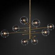 <b>【RH MODERN】</b>デザインシャンデリア8灯ゴールド「GLASS GLOBE MOBILE」(W2000mm)<img class='new_mark_img2' src='//img.shop-pro.jp/img/new/icons1.gif' style='border:none;display:inline;margin:0px;padding:0px;width:auto;' />