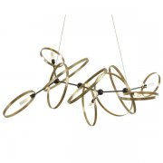 <b>【Hubbardton Forge】</b>デザイン照明6灯「Celesse」(W1520×D810×H820mm)<img class='new_mark_img2' src='//img.shop-pro.jp/img/new/icons1.gif' style='border:none;display:inline;margin:0px;padding:0px;width:auto;' />
