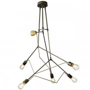 <b>【Hubbardton Forge】</b>インダストリアルスタイル照明6灯「Divergence」(φ1380×H720mm)<img class='new_mark_img2' src='//img.shop-pro.jp/img/new/icons1.gif' style='border:none;display:inline;margin:0px;padding:0px;width:auto;' />