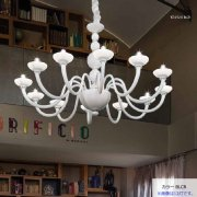 <b>【sylcom】</b>イタリア製 モダン・ヴェネチアンシャンデリア 6灯(カラー:5色)