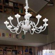 <b>【sylcom】</b>イタリア製 ヴェネチアンシャンデリア 8灯(カラー:5色)
