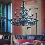 【sylcom】イタリア製 ヴェネチアンシャンデリア 28灯「Candiano」(カラー:7色)