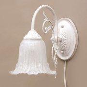 <b>【即納可!】</b>クラシカルウォールランプ1灯「イザベラ」・ホワイトブラッシュゴールド