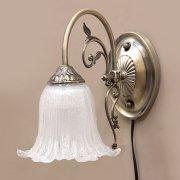 <b>【即納可!】</b>クラシカルウォールランプ1灯「イザベラ」・アンティークブロンズ