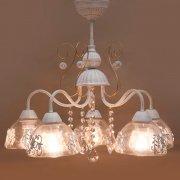 ★<b>【即納可!】</b>クラシカルシーリングランプ5灯「プリシラ」・ホワイトブラッシュゴールド