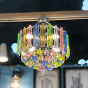 <b>【即納可!】</b>シーリングランプ4灯「ダイナスティ」・マルチカラ—(φ350×H270mm)