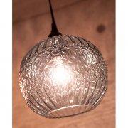 <b>【即納可!】</b>グレイシャーガラスランプ1灯「ラウンド」・グリーン(φ180×H160mm)