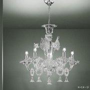 【sylcom】イタリア製ヴェネチアンシャンデリア 5灯「Giustinian」(カラー:4色)