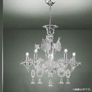 【sylcom】イタリア製 ヴェネチアンシャンデリア 6灯「Giustinian」(カラー:4色)