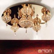 <b>【ORION】</b>オリエンタルシーリングライト ゴールド8灯(W820×H350mm)
