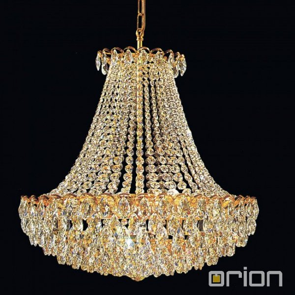 【ORION】 エンパイア型 クリスタルシャンデリア ゴールド 8灯(W600×H650mm