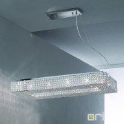 <b>【ORION】</b>クリスタル デザイン照明 クローム 12灯(W1000×H230×D400mm)