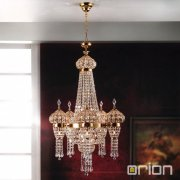 <b>【ORION】</b>クリスタルシャンデリア ゴールド 24灯(W650×H1000mm)