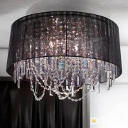 <b>【ORION】</b>クリスタルシェードシャンデリア クローム 7灯(W500×H450mm)