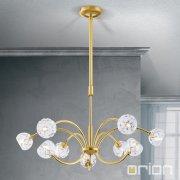 <b>【ORION】</b>クリスタルモダンシャンデリア ゴールド 9灯(W690×H180mm)