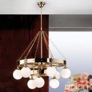 <b>【ORION】</b>ガラスボールシャンデリア シャイニーゴールド 9灯(W800×H830mm)